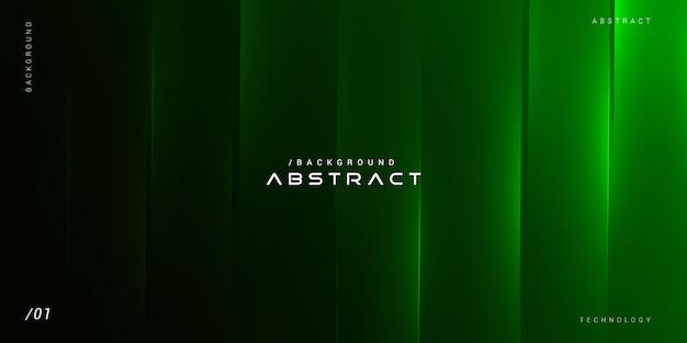 Fundo abstrato verde linhas geométricas brilhantes