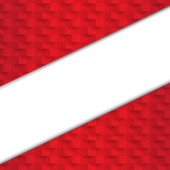 Fundo abstrato vermelho com banner de papel com malha gradiente