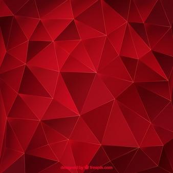 Fundo abstrato vermelho com triângulos