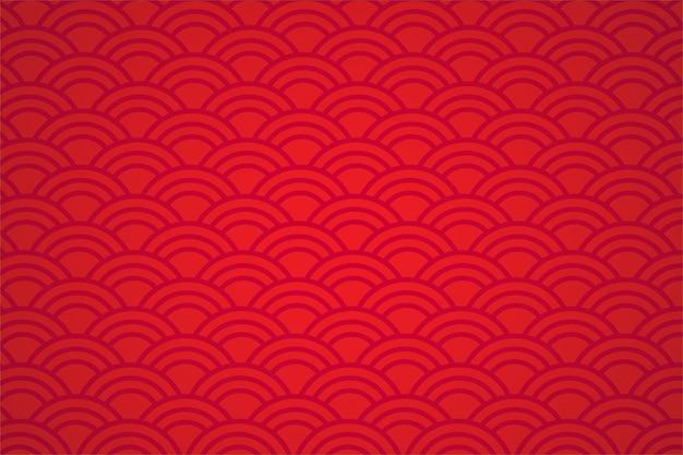 Fundo abstrato vermelho do estilo asiático.