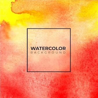 Fundo abstrato vermelho e amarelo da aguarela, pintura da mão. salpicos de cor