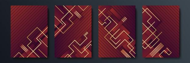 Fundo abstrato vermelho e dourado. projeto de ilustração vetorial para modelo de mídia social, cartão, convite de luxo, festival, apresentação de negócios, banner, capa, identidade corporativa