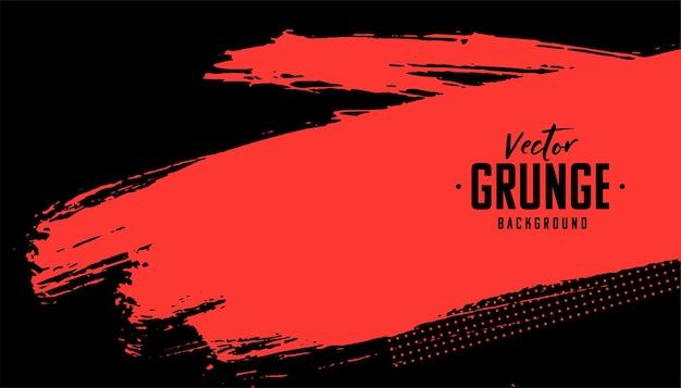 Fundo abstrato vermelho e preto com textura grunge