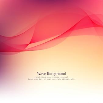Fundo abstrato vermelho elegante onda vermelha