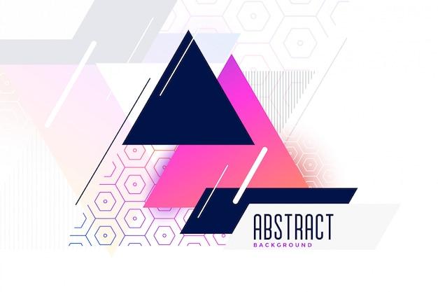 Fundo abstrato vibrante memphis triângulo