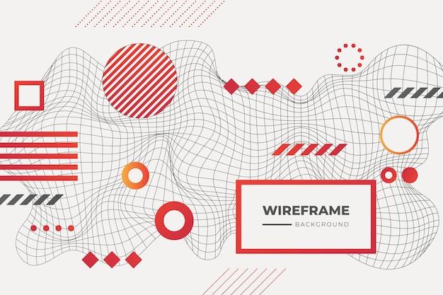 Fundo abstrato wireframe