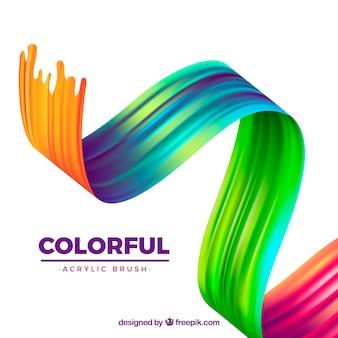 Fundo acrílico ondulado colorido