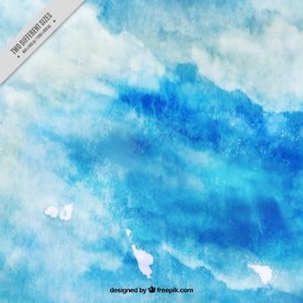 Fundo agradável com o azul textura da aguarela