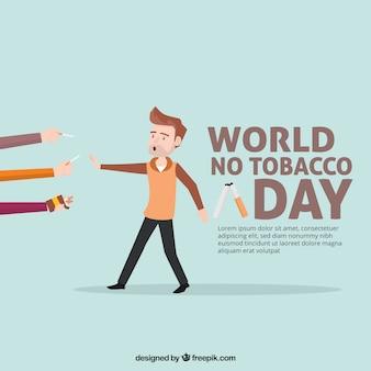 Fundo agradável dia anti-tabagismo