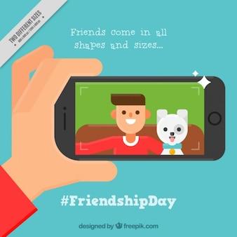 Fundo agradável do dia da amizade com uma imagem