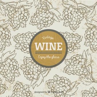 Fundo agradável do vinho com uvas
