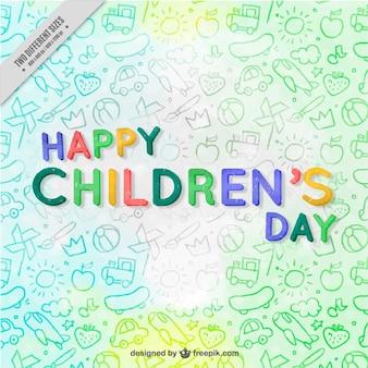 Fundo agradável para o dia das crianças