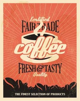 Fundo alaranjado coffe anúncio