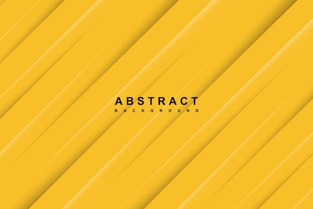 Fundo amarelo abstrato com linhas diagonais recortadas