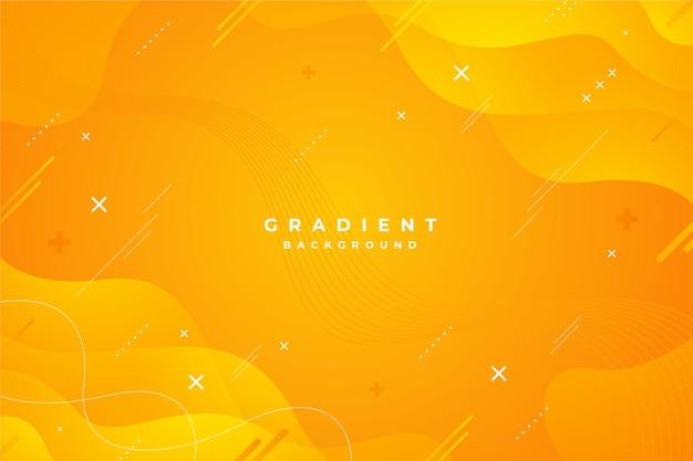 Fundo amarelo abstrato gradiente