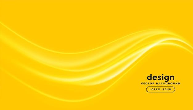 Fundo amarelo brilhante com linhas brilhantes onduladas Vetor grátis