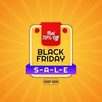Fundo amarelo brilhante com ofertas de venda na sexta-feira negra