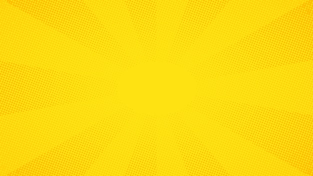 Fundo amarelo de pontos de meio-tom em quadrinhos de pop art