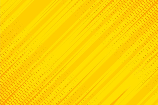 Fundo amarelo de quadrinhos de design plano