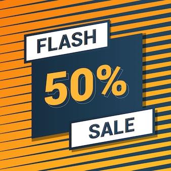 Fundo amarelo de venda de flash