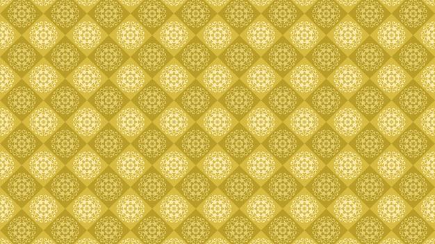 Fundo amarelo do ornamento do vintage, papel de parede decorativo