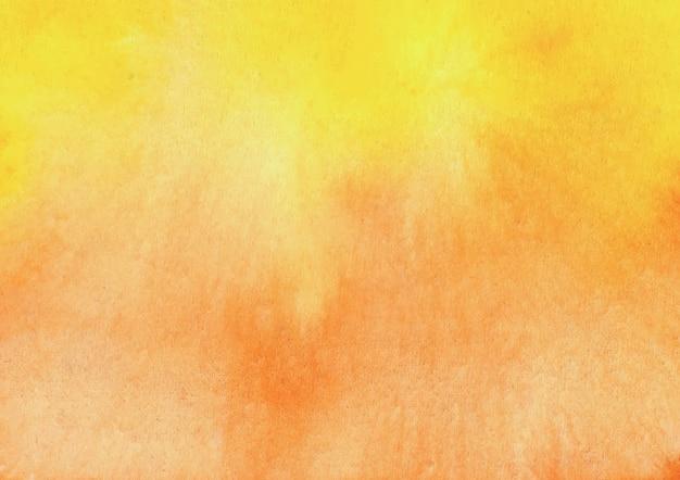 Fundo amarelo e laranja aquarela e fundo abstrato de textura