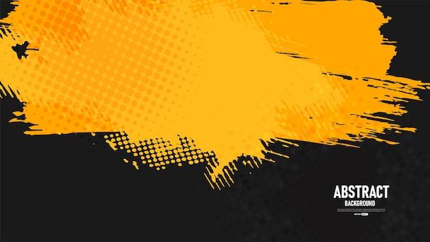 Fundo amarelo e preto abstrato do grunge