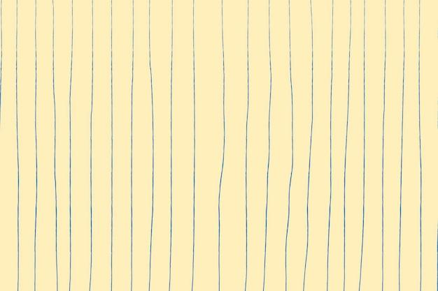 Fundo amarelo, padrão de doodle, vetor de design simples