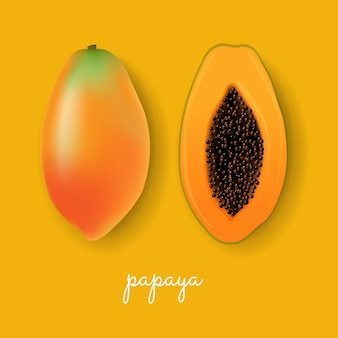 Fundo amarelo papaia