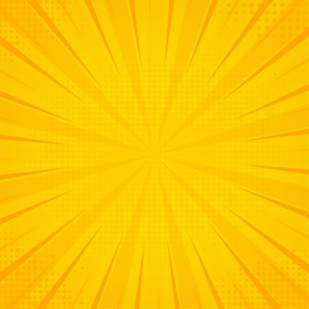 Fundo amarelo pop art. textura retro abstrata.