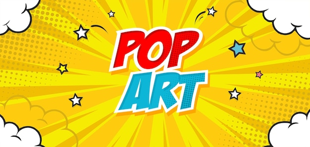 Fundo amarelo pop art