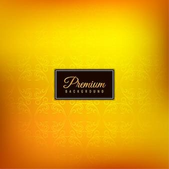 Fundo amarelo premium de luxo decorativo