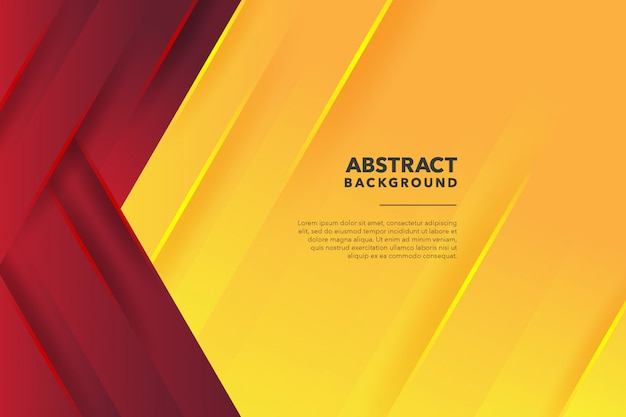 Fundo amarelo vermelho abstrato geométrico moderno