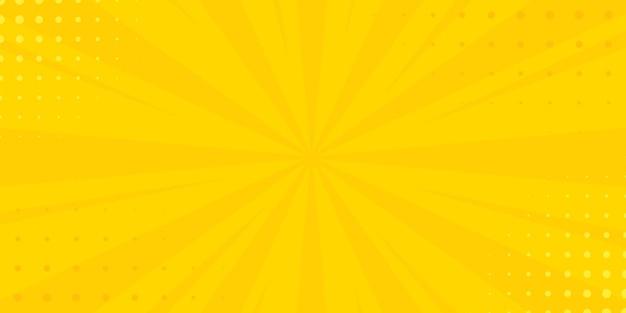 Fundo amarelo vintage pop art. ilustração vetorial de banner