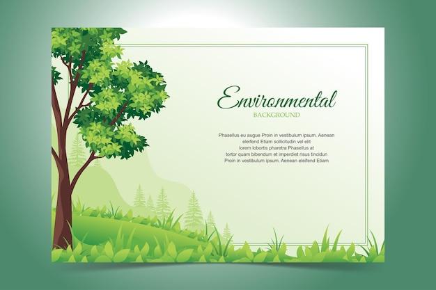 Fundo ambiental com paisagem verde
