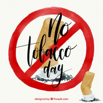 Fundo anti-tabagismo com símbolo proibido