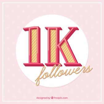 Fundo antigo de 1k seguidores