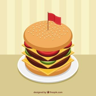 Fundo apetitoso do cheeseburger