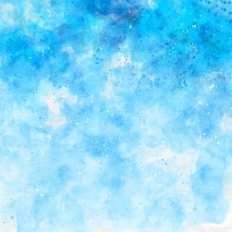 Fundo aquarela abstrato azul celeste