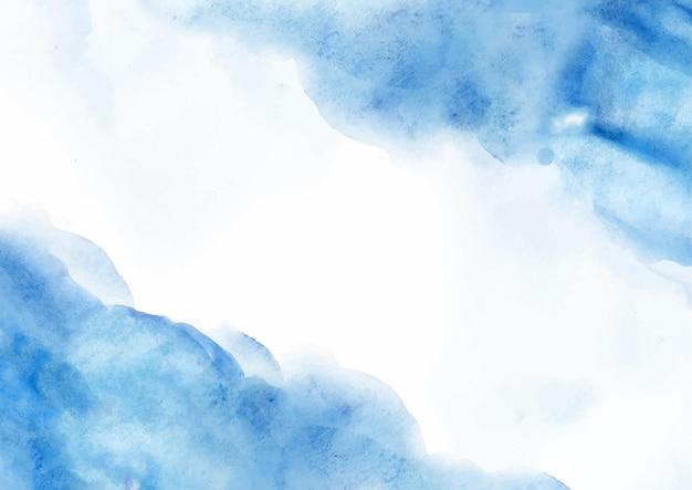 Fundo aquarela abstrato azul elegante