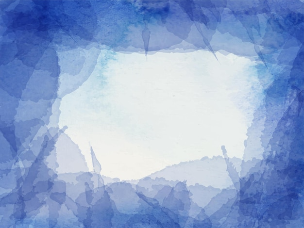 Fundo aquarela abstrato azul para fundo de texturas