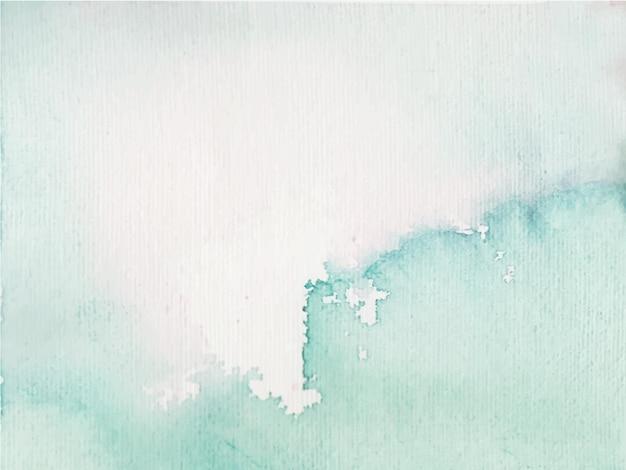 Fundo aquarela abstrato azul, pintura à mão. salpicos de cor no papel branco