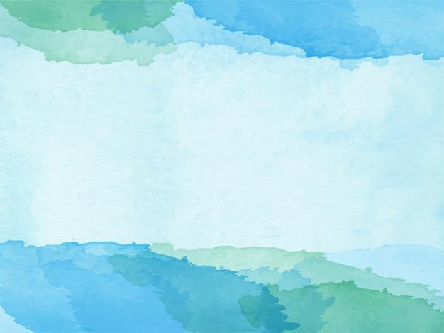 Fundo aquarela abstrato azul verde para fundo de texturas