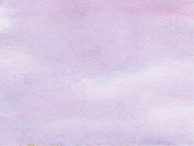 Fundo aquarela abstrato de cor roxa, pintura à mão. salpicos de cor no papel.