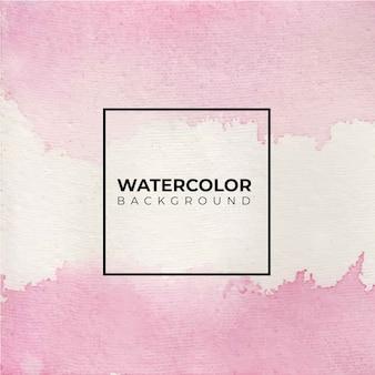 Fundo aquarela abstrato rosa, pintura à mão.