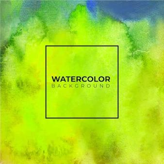 Fundo aquarela abstrato verde claro, pintura à mão. salpicos de cor no papel