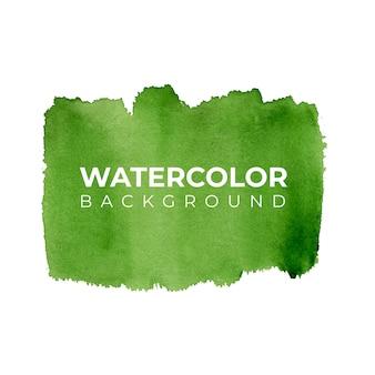 Fundo aquarela abstrato verde, pintura à mão. salpicos de cor no papel