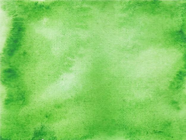 Fundo aquarela abstrato verde, pintura à mão.