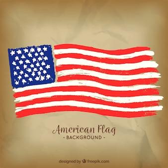 Fundo, aquarela, americano, bandeira