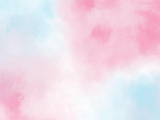 Fundo aquarela azul pastel rosa. textura grunge pintura de arte digital